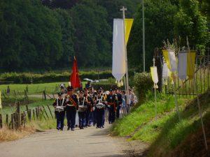 De Processie bezoekt jaarlijks een van de gehuchten rond Gulpen