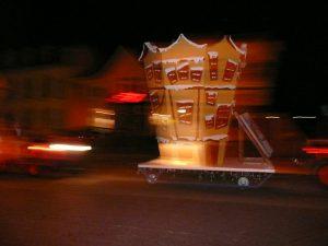 Valkenburg - de lichtstoet tijdens de Kerstparade