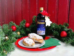 Ons kerstarrangement bestaat dit jaar uit Kerststol en Glühwein bij aankomst en toegangskaarten tot de Kerstmarkt