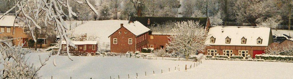Start uw kerstarrangement bij Vakantiewoningen het Ysvogeltje op een prachtige zonnige ochtend in een sneeuw overgoten landschap in de Limburgse heuvels